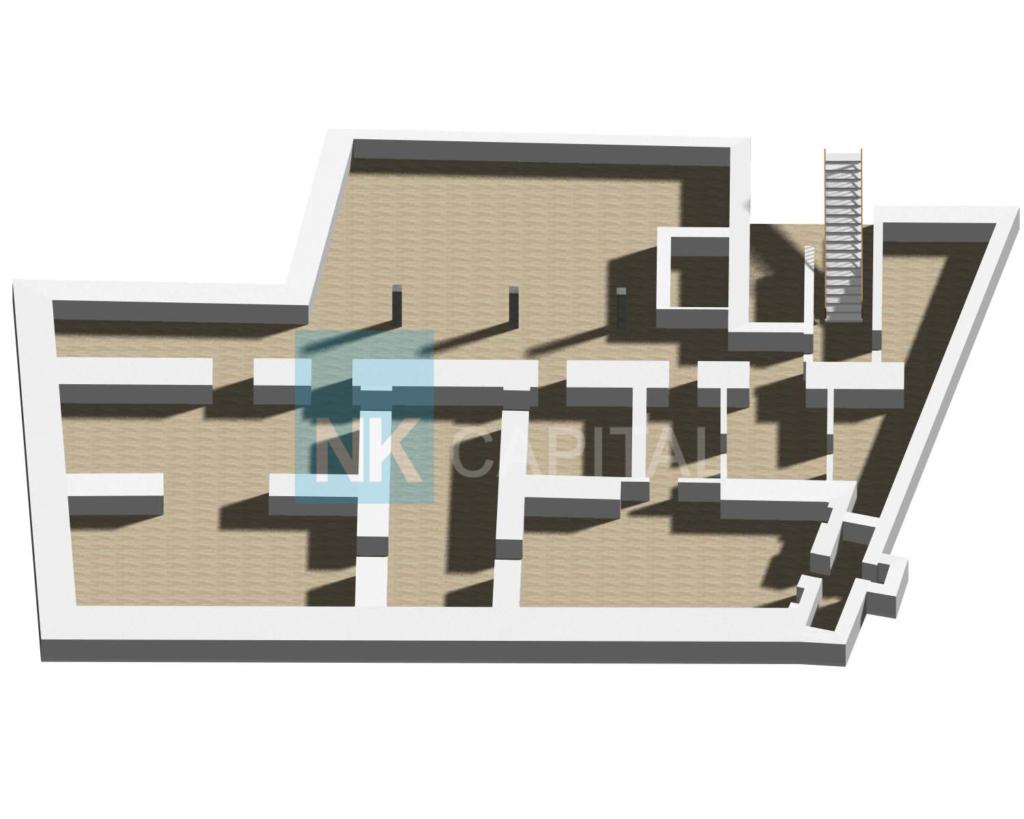 Praha smíchov pronájem nebytových prostor 400 m² , 3D půdorys, realitní makléř Petr Novotný